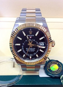 Rolex replica Sky-Dweller 326933 Bi-Colour Black Dial